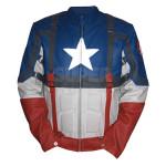 Captain-America-First-Avenger-Chris Evans-Blue-Leather-jacket