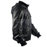 Men-Black-Bomber-Soprano-Perforated-Hoodie-Jackets