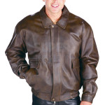 Men-Classic-Distressed-Aviator-Bomber-Leather-Jacket