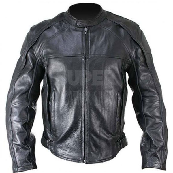 Men-Cowhide-Armor-Black-Motorcycle-Leather-Jacket