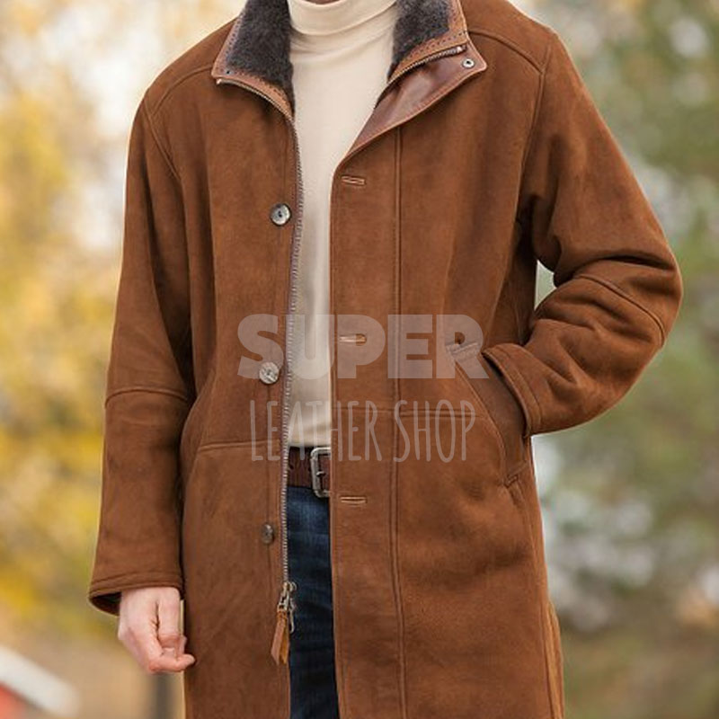 04c68d2b110 Sheriff Walt Longmire Robert Taylor Trench Coat Jacket -