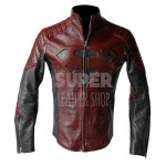 Superman-Smallville-Man-of-Steel-Black-and-Maroon-Jacket