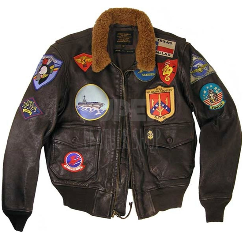 Top Gun Tom Cruise Bomber Aviator Brown Jacket