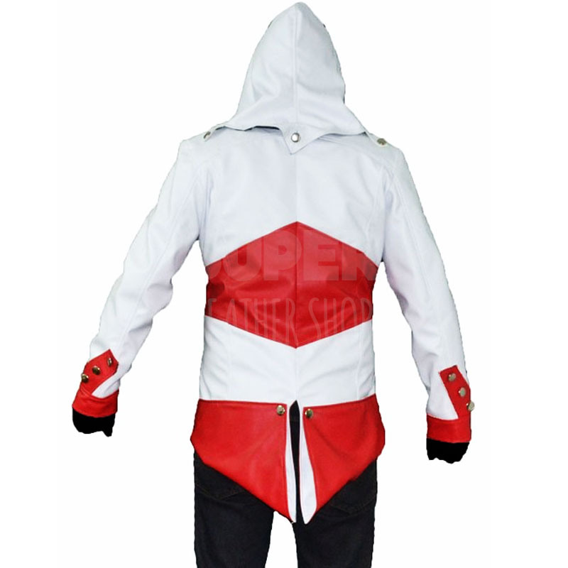 Assassin S Creed 3 Connor Kenway White Red Jacket Costume