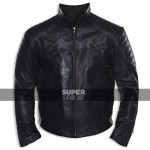 Batman Begins Christian Bale Motorcycle Jacket