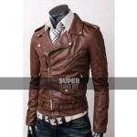 Belted-Rider-Slim-Fit-Brown-Leather-Jacket