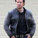 Daddy's Home Mark Wahlberg Dusty Black Biker Jacket