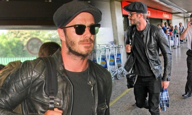 95563315d David Beckham Black Motorcycle Jacket