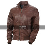 Men's Vintage Bomber Brown Leather Jacket