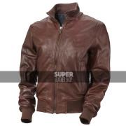Men's Vintage Bomber Brown Leather Jacket