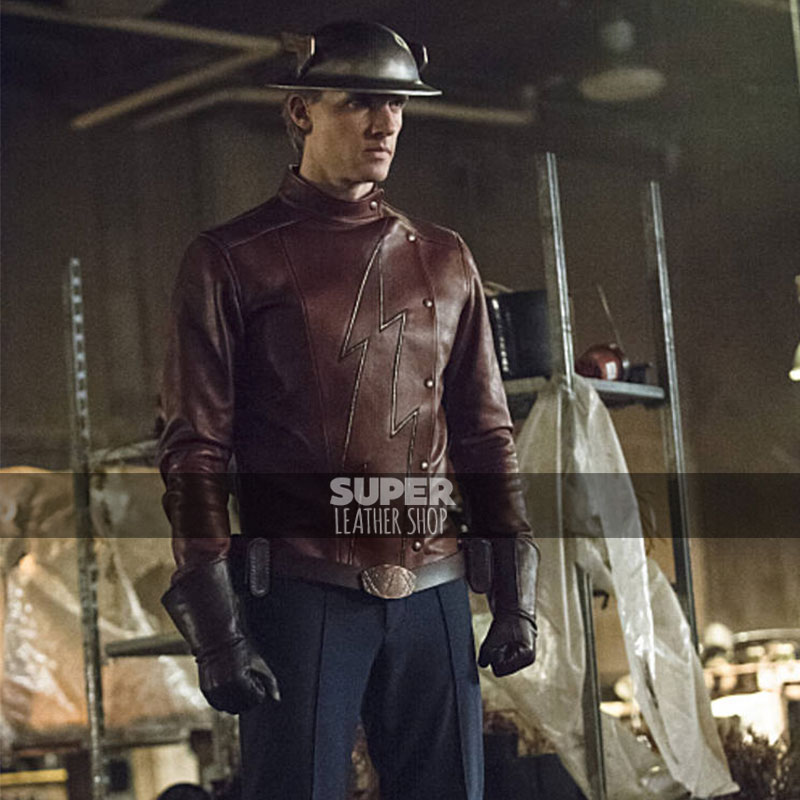 The Flash Season 2 Teddy Sears (Jay Garrick) Leather Jacket