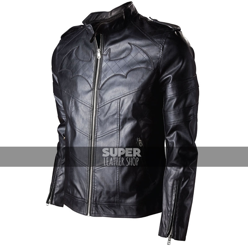 Batman Arkham Knight Game Black Leather Jacket