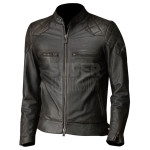 David Beckham Brazil Motorcycle Quilted Leather Jacket