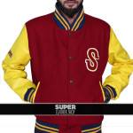 Clark-Kent-Smallville-Varsity-Crow-Letterman-Wool-Leather-Jackets