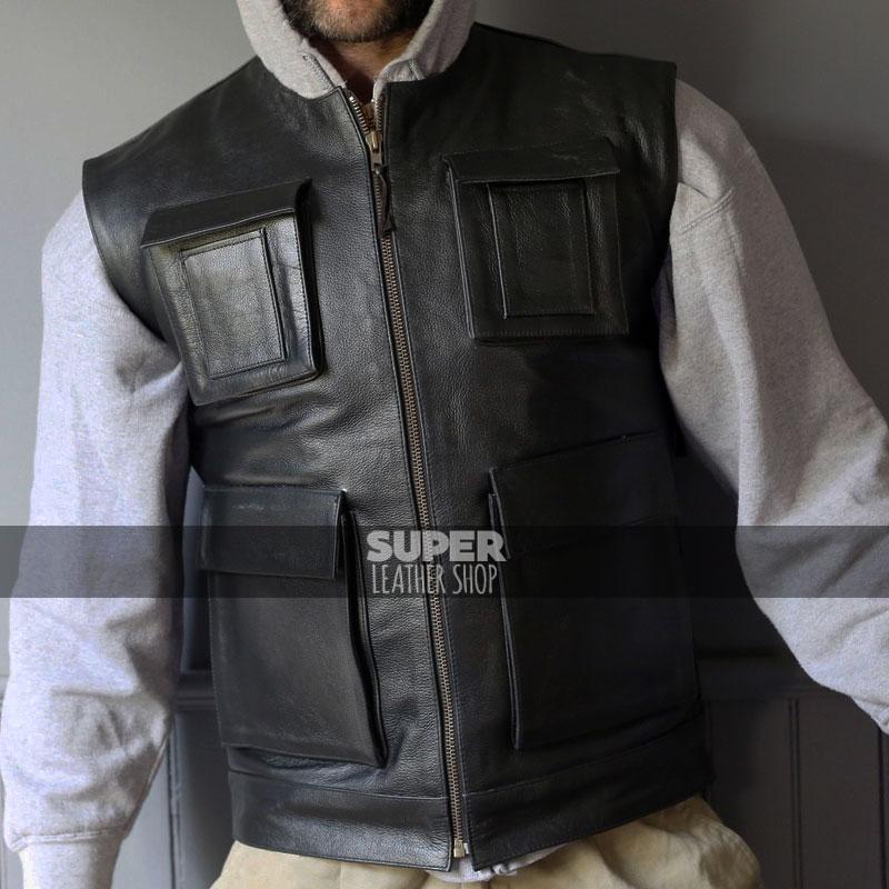 9cbf5497f Star Wars Smuggler Han Solo Harely Riders Vest Jacket