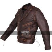 Mens-Brown-Distressed-Leather-Marlon-Brando-Biker-Motorcycle-Armoured-Jacket-3