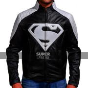 Smallville-superman-black-grey-clark-kent-leather-jacket