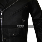 Women-scooter-belted-rider-black-jacket-sale
