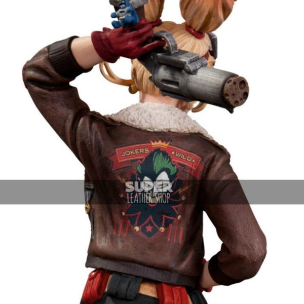 Bombshell-Harley-Quinn-Bomber-Leather-Jackets