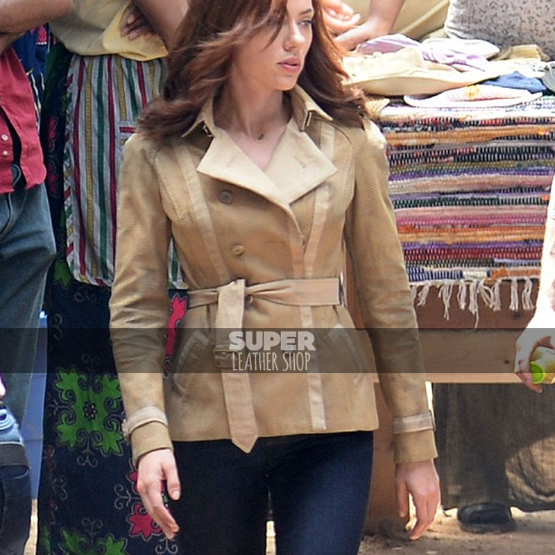 Civil War Scarlett Johansson Jacket Black Widow Jacket