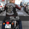 SONS OF ANARCHY TELLER LEATHER VEST WITH PATCHES (2)