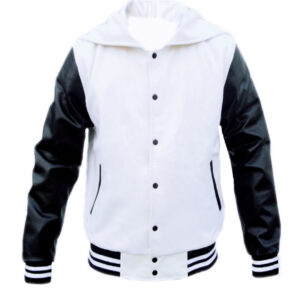 Men Zipper Hood Varsity Jackets